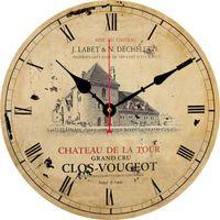 Ретро французская страна стиль крупные настенные часы поезда час старинные настенные часы искусство не тишины творческий дом декор