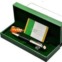 Cufflink jóias cuff presente verde homens cufflinks artigos de papelaria suprimentos oblíqua cabeça caneta esferográfica bom conjunto de box