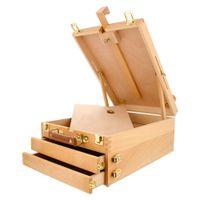 Waco Table Top Moster, Premium Beechwood Sketchbox для покраски, 2 ящика Деревянный Художник Настольный Кейс для хранения рабочего стола Удобно и портативный для нести