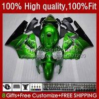 Injektion för Kawasaki ZX1200 ZX 12R 1200CC ZX12R 02 03 04 05 06 52HC.2 ZX 12 R Green Flames ZX-12R 2002 2003 2004 2005 2006 OEM Fairings