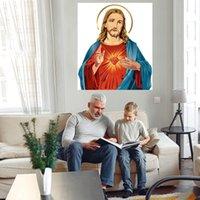 Gesù Christ Portrait Home Decor Ampia pittura ad olio su tela Handcrafts / HD Print Wall Art Pictures Pictures Personalizzazione è accettabile 21070323