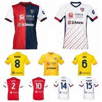 2020 21 كرة القدم Cagliari Calcio Jersey 9 Simeone 10 Joao Pedro 2 Godin 22 Lykogiannis 44 Nainggolan Pellegrini Cigarini Football Kits