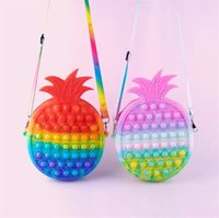 Fidget Toys Pineapple Coins Purse Colorful Push Sensory Squishy Stress Reliever Autism Needs Anti-stress Rainbow Adult Toy For Children