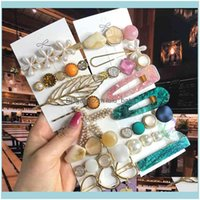 رباطات Headbands Jewelry2021 لؤلؤة الكريستال كليب أكريليك مجموعة للنساء الرجعية جربات هندسية دبوس فتاة ولديسة الشعر الأزياء والمجوهرات إسقاط deliv