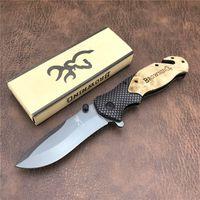 Browning Folding Knife X50 Tactical Pocket Knives Wood Handle Outdoor Camping Tools Survival Hunting Knives EDC Tool