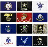 US-Armee-Flagge USMC 13 Armee Direkte Fabrik Großhandel 3x5FTs 90x150cm Luftwaffe Schädel Gadsden Camo Army Banner US Marines WWA124