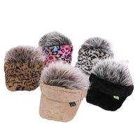 Kids Hats Girls Boys Caps Autumn Winter Baby Hat Children Baseball Hairpiece Peaked Cap Leopard Fashion Accessories 2-7Y B8707