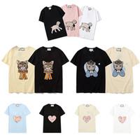 2021 Mens Bayan Tasarımcı Tişörtleri Mektup Çerçeve Baskılı Moda Kadın T-Shirt En Kaliteli Pamuk Rahat Tees Kısa Kollu Luxe T Shirt