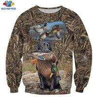 Camisa dos homens Impressão 3D Camuflagem Camuflagem Hunt Game Homens Jungle Jungle Geely High Street Campo de rua Animal selvagem pulôver