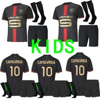 Детские наборы + носки 120th Stade Rennais Soccer Jersey Home Rennes Maillot De Foot Sarr Niang Bourigeaud Andre Hunou Футбольные комплекты