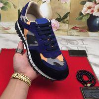 Düz Kamuflaj Sneakers Rahat Ayakkabılar Çivili Kaya Koşucu Eğitmenler Walox Kadın Erkek Studd Deri Süet Ayakkabı Büyük Boy 35-46