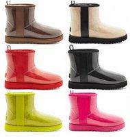 الكلاسيكية واضحة مصمم مصمم النساء أستراليا أستراليا الأحذية الأسترالية الشتاء ثلج الفراء فروي الحرير التمهيد 20 الكاحل الجوارب الجلدية الأحذية في الهواء الطلق 35-44 TXYI #