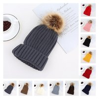 Adults Thick Warm Beanie Winter Hat For Women Soft Stretch Cable Autumn Knitted Pom Beanies Hats Patchwork Woman Skull Caps T2I52789