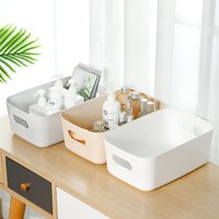 Storage Bottles & Jars Large Space Holder Box Basket Hollow Handle Container Case For Cosmetics Toiletry
