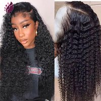 Lace Wigs Jerry Curl Wig 13x4 Front Curly Deep Wave Human Hair Brazilian Virgin Pre Plucked 180% Density 5x5 Silk Base