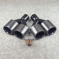 Motorrad Auspuffanlage 1 Paar Tipps Auto Universal Glänzend Schwarz Edelstahl Rohrlänge 250mm Oval Doppelbein