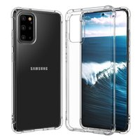 S20 Ultra Clear Silicone Soft Phone Cases For Samsung Galaxy S10 S20+ S21 Plus Note10 Note20 Pro TPU Shockproof Case Cover