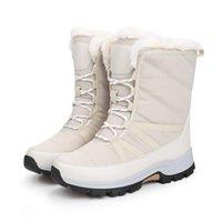 Ботинки Moipheng женские зимние снежные бежевые мода лодыжки для женщин сохраняют теплые плюшевые туфли плюс размер 36-42 загрузки платформы