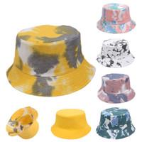 2021 La parte doppia può indossare !!! Tie-Dye Bucket Hat 4 New Styles Fisherman Hat Cappello Sole Cappello più nuovo Street Outdoor Sport Tide Cappello Primavera Fall Lla455