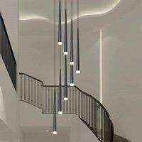 أدى طويل النازل قلادة مصابيح الإبداع الفردية غرفة الطعام الحديثة الثريا درج ضوء المطبخ الثريات بار الثريا