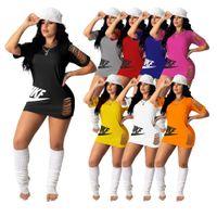 S-4XL разорванные женские летние футболки короткие платья дизайнеры платья RIP полосы с коротким рукавом длинные тройники топы спортивные пляжные одежды юбка H31CXS4