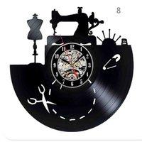الخياطة صالون الحائط الجدار خياطة سجل ساعة حار بيع 12 بوصة 30 سم خياط هدية أسود علامات 692 K2