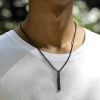Collares colgantes Simple Cadena Hombres Collar de moda Caja de acero inoxidable de moda para mujeres Aniversario Regalo de joyería