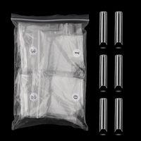 False Nails Non C-Cruve XXL длинные акриловые чашки для ногтей гроб прямой маникюр
