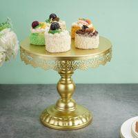 جولة كعكة عرض موقف زفاف كعكة صينية الحلوى حامل الحديد المطاوع كب كيك رف الحلوى صينية عرض لوحة لحضور حفل زفاف ديكور