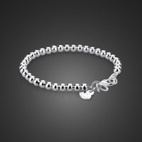 Genuine Semplice 100% 925 perle sterline per donna Solid Silver Girl Bambini Braccialetto Genitore-Bambino gioielli