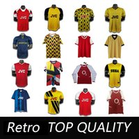 1995 1986 1992 04 Arsen Ian Wright Tony Adams Cole Retro Fútbol Jersey 86 88 Rastle Dixon Campbell Merson Smith Camisa de fútbol para adultos