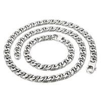 Zincirler sokak hip-hop tarzı basit çift japon yazı tipi zincir moda trend titanyum çelik kolye takı ile