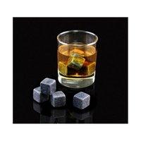 180 pcs / 20 conjunto de alta qualidade pedras naturais 9 pçs / set whisky stones refrigerador rock soapstone cubo de gelo com veludo sto jlljba xmh_home