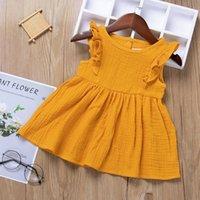 아기 소녀 드레스 아동복 여름 거품 프릴 슬리브 공주 드레스 스커트 비행 소매 투투 파티 생일 클럽 드레스 H237SDG