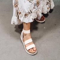 Kadın Platformu Sandalet Kadınlar Peep Toe Yüksek Demope Topuk Ayak Bileği Tokaları Sandalia Espadrilles Kadın Sandalet Ayakkabı Sparx Sandalet Mavi Ayakkabı 70ay #