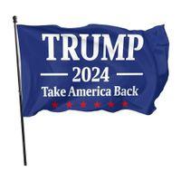 DHL-Schiff Trump 2024 Nehmen Sie Amerikaner zurück 90 * 150cm Flaggen 2024 Präsidentschaftswahlen Banner Flaggen 3 * 5 Fuß Ziffer Print 100D Polyestergewebe CPA3282