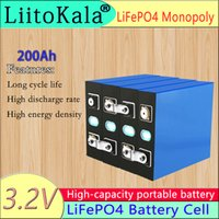 LIITOKALA 3.2 V 200AH LIFEPO4 Pil Paketi 3C Deşarj Lityum Demir Fosfat Piller 4 S 12 V 24 V Hücre Yacht Solar RV için