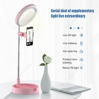 G3 LED Retractable Selfie Ring Light Dimmable Ring Lamp Photographic Lighting Tripod for Makeup Live Stream LED Camera