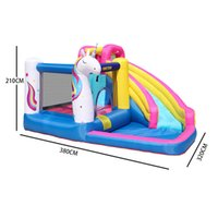 Garden Supplie Unicorn Combo Inflatable Bounce House Slide Jumping Bouncy Castle Houses with Air Blower for Kids