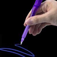 كبير رئيس مضيئة ضوء القلم السحر الأرجواني 2 في 1 الأشعة فوق البنفسجية الضوء الأسود كومبو رسم غير مرئية حبر القلم تعلم التعليم لعب للأطفال 44 S2