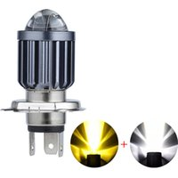 1PCS 12V H4 High Quality Lighting Motocycle Headlight 6000K+3000K Color Temperature Integration Suitable for Most Models 10000LM Super Bright High-Beam