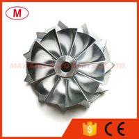 TF035 13T 49377-00018 38.35 / 51.00mm 11 + 0 Klingen Performance Turbo Billet Kompressorrad für 49135-05610 Turboladerpatrone / CHRA / CORE