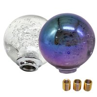 Universal Ball Shape Shift Knob Gear shifter Heas Transparent Crystal Bubble 55mm