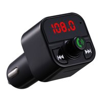 kit X5 Handsfree Car Kit FM Transmitter Wireless Audio Receiver Auto MP3 Player Dual USB Fast Charger