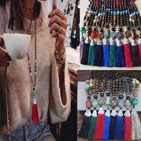 Богемия Женская длинная цепочка Trui этнические коробки цепи Bijoux Femme Colar одежда ювелирные изделия оптом BFF