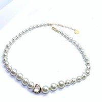 Pulsera de collar de hebras de perla completa para mujeres amantes de la fiesta regalo joyería con caja