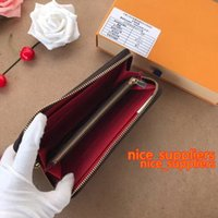 NOUVEAU ARRIVER Femmes Véritable Véritable Portefeuilles Single Single M60017 avec boîte à poussière Zippy Titulaire de la carte Sacs CX # 210