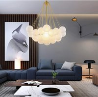 Lampadario per la lampadario a sfera di vetro smerigliato in vetro nero Nordic Gold Black Glassato per sala da pranzo