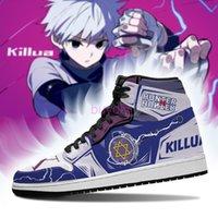 Anime Fan DIY Sneakers yoyo killua Shoes Boots Mens Womens Basketball Shoes Jumpman 1 Model Custom Trainers Casual shoe