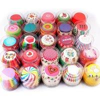 Ölfeste Kuchenbecher 30 Stil Cupcake-Form 100pcs / PVC-Eimer Verpackung Schokoladenbrot-Kuchen Backwerkzeuge FWA4179